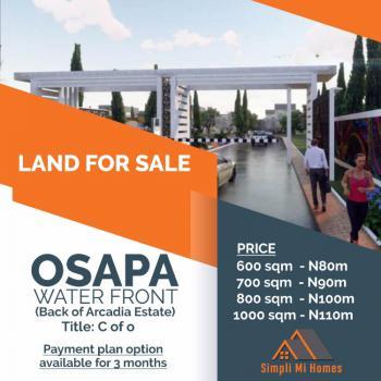 C of O Land, Osapa Water Front Back of Archadia Estate, Osapa, Lekki, Lagos, Residential Land for Sale