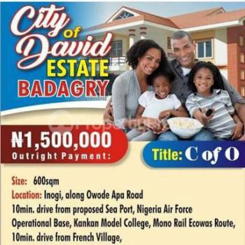 Affordable Dry Land, City of David Estate Inogi Along Owode Apa Road, Badagry, Lagos, Residential Land for Sale