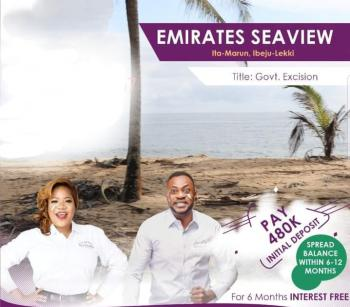 Land with Government Approved Excision, Emirate Seaview Estate  Before Lacampaigne, Itamarun, Ibeju Lekki, Lagos, Mixed-use Land for Sale