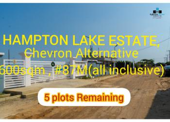 Luxury 100% Dry Land 20 Plots Only, Hampton Estate, Chevron Alternative, Lekki Phase 1, Lekki, Lagos, Residential Land for Sale