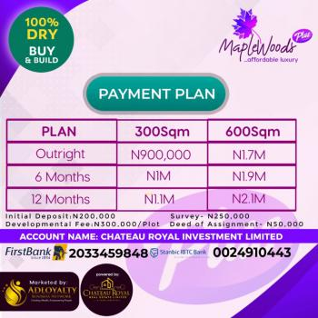 100% Dry Land, Mapple Wood Plus , Opposite La Campan Tropicana, Epe, Lagos, Residential Land for Sale