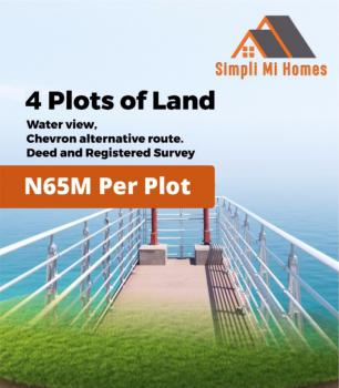 Affordable Water View Land, Chevron Alternate Route, Osapa, Lekki, Lagos, Residential Land for Sale