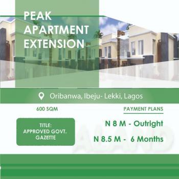 Peak Apartment Extension., Oribanwa., Awoyaya, Ibeju Lekki, Lagos, Land for Sale