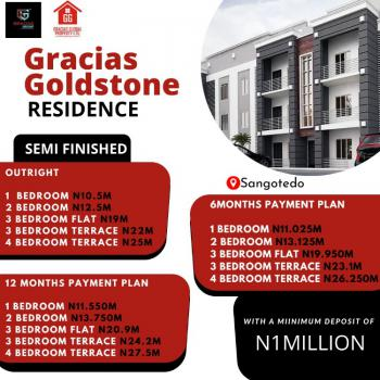 Residential Land with C of The, Gracias Goldstone Resident Sangotedo Ajah Lagos, Sangotedo, Ajah, Lagos, Terraced Duplex for Sale