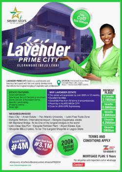 Land, International Airport, Lavender Prime City, Eleranigbe, Ibeju Lekki, Lagos, Residential Land for Sale