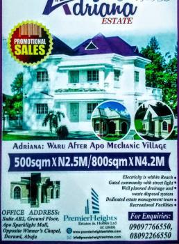 4 Bedroom Pent House on 500sqm Land, Adriana Estate, Waru-pozema, Abuja, Residential Land for Sale