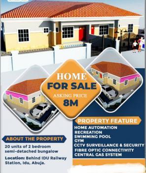 Luxury 2 Bedroom Semi- Detached Bungalow, Behind Railway Station, Idu Industrial, Abuja, Flat for Sale