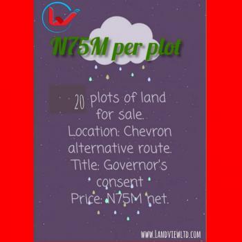 Land in Chevron, Chevron Alternative Route Hampton Lake, Lekki, Lagos, Residential Land for Sale