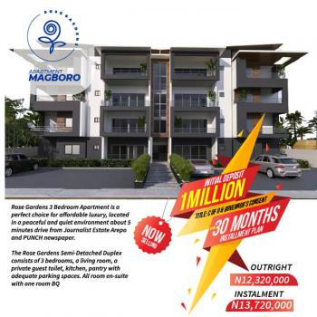 Luxury 3 Bedroom Apartment +bq., 5min Drive From Journalist Esate Arepo, Magboro, Ogun, Block of Flats for Sale