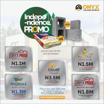 Dry and Secure Luxury Land, Onyx Court Estate, Ibeju Lekki, Lagos, Mixed-use Land for Sale