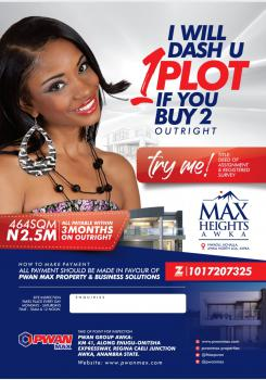 Land, Awka, Anambra, Residential Land for Sale