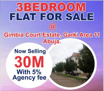 3 Bedrooms Flat with Excellent Facilities, Gimbia Street, Garki, Abuja, Flat for Sale