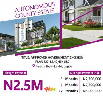 Plot of Dry Land, Livewell Estate, Ogogoro, Ibeju Lekki, Lagos, Residential Land for Sale