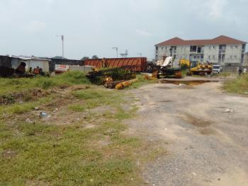 Open Land with a Warehouse in a Strategic Site for Car/ Trailer Park, By Nike Art Gallery, Lekki, Lagos, Mixed-use Land for Rent