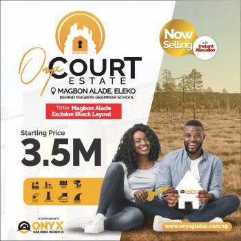 100% Dry Land After Amen Estate with More Than 60% Roi Monthly, Magbon Alade, Eleko Behind Magbon Grammer School, Eleko, Ibeju Lekki, Lagos, Residential Land for Sale