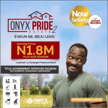 Most Fast Selling Dry Land Now Available in The New Lagos, Okun Ise/folu, Ibeju Lekki, Close to La Campaigne Tropicana, Folu Ise, Ibeju Lekki, Lagos, Residential Land for Sale