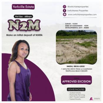 Yorkville Estate, Few Minutes Drive From La Tropicana Beach Resort., Ibeju Lekki, Lagos, Residential Land for Sale