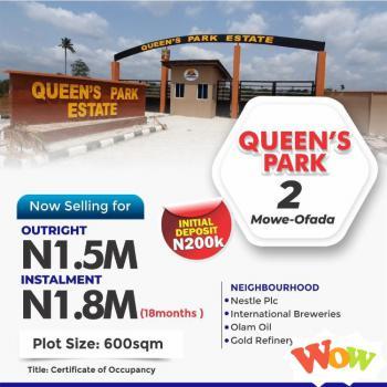 Plot of Land, Mowe Ofada, Ogun, Residential Land for Sale