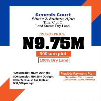 a Well Developed Estate, Genesis Court Phase 2, Badore, Ajah, Lagos, Residential Land for Sale