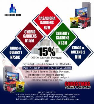 Xmas Mega Cassadiora Estate Promo, Oriba Side,elerangbe Road, Eleranigbe, Ibeju Lekki, Lagos, Residential Land for Sale