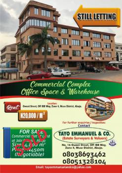 Commercial Office Space, No 16, Zone 4, Wuse, Abuja, Office Space for Rent