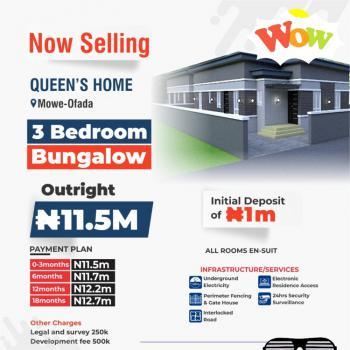 3 Bedroom Bungalow, Queen Home, Mowe Ofada, Ogun, Terraced Bungalow for Sale