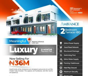 Luxury 2 Bedroom Terrace + Bq, Sangotedo, Ajah, Lagos, Terraced Duplex for Sale