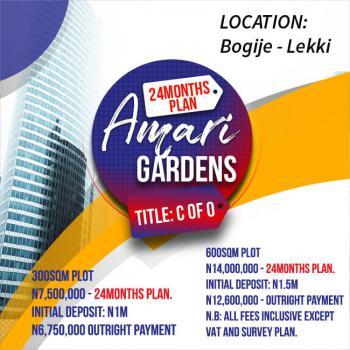 Estate Plot of Land in Prime Location, Amari Gardens, Close to Beechwood Estate, Bogije, Ibeju Lekki, Lagos, Residential Land for Sale