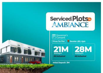 The Ambiance Estate, By Atlantic Layout Estate, Ajiwe, Ajah, Lagos, Residential Land for Sale