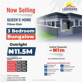 Elizabeth Court, 3 Bedrooms Bungalow, Queens Homes, Mowe Ofada, Ogun, Semi-detached Bungalow for Sale