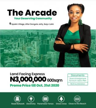 Dry Land Directly Facing The Express, Apakin Village, After Dangote Jetty, Apakin, Ibeju Lekki, Lagos, Residential Land for Sale