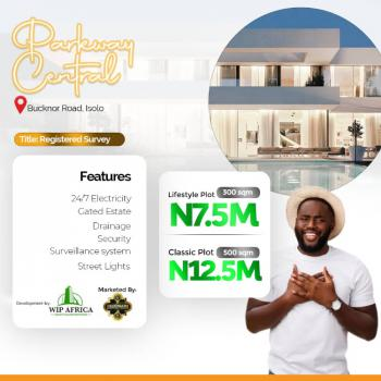 Prime Plot of Estate Land in Good Location, Parkway Central, By Jakande Area, Ire Akari, Isolo, Lagos, Residential Land for Sale