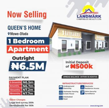 Newly Built Luxury Finished 1 Bedroom Bungalow, Queens Park Mowe Ofada, Mowe Ofada, Ogun, Terraced Bungalow for Sale