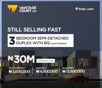 Three Bedroom Semi Detached Terrace Duplex with Bq, Bogije, Ibeju Lekki, Lagos, Terraced Duplex for Sale