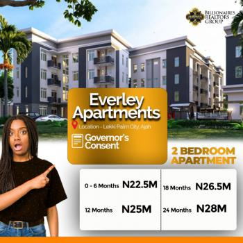 Beautiful 2 Bedroom Apartment - Everly Apartments, Lekki Palm City Estate, Ajah, Lagos, Flat for Sale