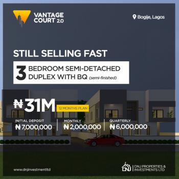 Exotic 3 Bedrooms Semi Detached Duplexes (governor Consent), Bogije, Ibeju Lekki, Lagos, Semi-detached Duplex for Sale