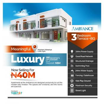 with Just 5m Own a Luxury 3 Bedroom with Bq, Abraham Adesanya, Ajah, Lagos, Terraced Duplex for Sale