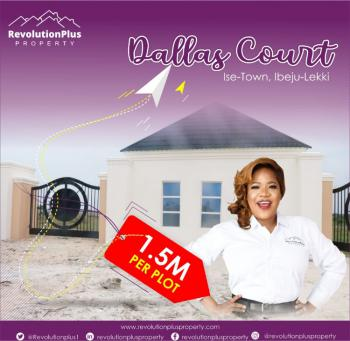 Premium Plot of Estate Land in Good Location, Dallas Court, Akodo Ise, Ibeju Lekki, Lagos, Residential Land for Sale