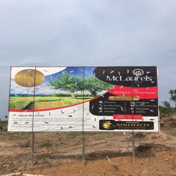 Wonderful 100% Dry Land for Investment in a Serene Environment, Mclaurels, Igbola, Epe, Lagos, Residential Land for Sale