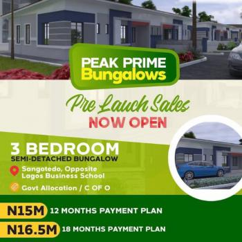 Peak Prime Bungalow, Sangotedo, Ajah, Lagos, Semi-detached Bungalow for Sale
