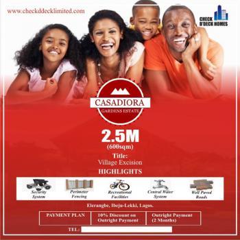 Residential Buy and Build Land, Casadiora Gardens Estates., Eleranigbe, Ibeju Lekki, Lagos, Residential Land for Sale