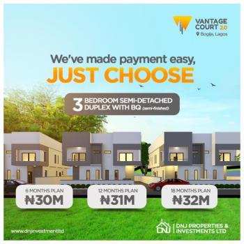 Units of Stunning 3 Bedroom All Rooms En-suite with Bq ., Vantage Court, Bogije, Ibeju Lekki, Lagos, Semi-detached Duplex for Sale