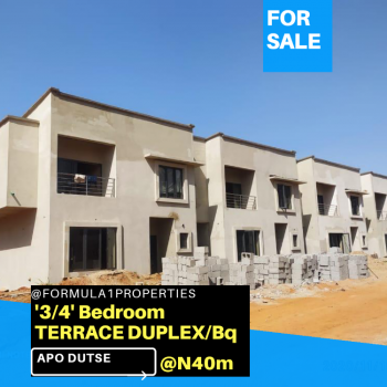 a Solidly Built Real Estate Offering, 5 Minutes From Legislative Quarters, Apo, Abuja, Terraced Duplex for Sale