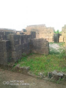 Standard Half Plot with Uncompleted Building in a Serene Area, Captain Abule Egba By Ekoro Junction, Abule Egba, Agege, Lagos, Residential Land for Sale