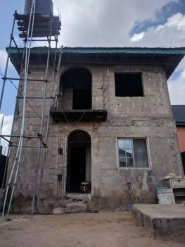 a Building Consisting of 3bed Up N 2sets of 2bed Down N Is Shops, Igando Lasu Road Lagos, Igando, Alimosho, Lagos, Block of Flats for Sale