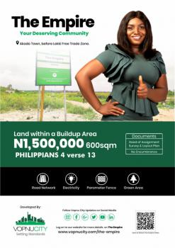Serviced Plots of Land, Akodo Town, Before Lekki Free Trade Zone, Ibeju Lekki, Lagos, Mixed-use Land for Sale
