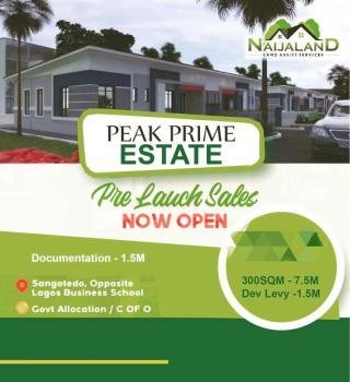 Dry Residential Land, Inside Greenland Estate, Sangotedo, Ajah, Lagos, Residential Land for Sale