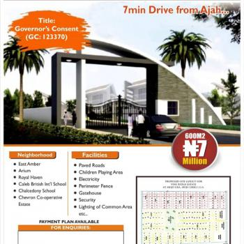 Affordable Serviced Residential Land with Governors Consent, Vine Ridge Estate Abijo G.r.a, Abijo, Lekki, Lagos, Residential Land for Sale