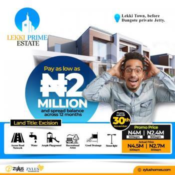 Prime Estate Land in Good Location, Before Dangote Jetty, Lekki Free Trade Zone, Lekki, Lagos, Residential Land for Sale