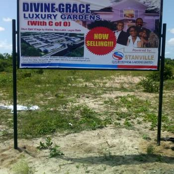 Affordable Serviced Land with C of O in a Built Up Area, Devine Grace Estate , Okun Ojeh By Alatise Ibeju Lekki, Ibeju Lekki, Lagos, Residential Land for Sale